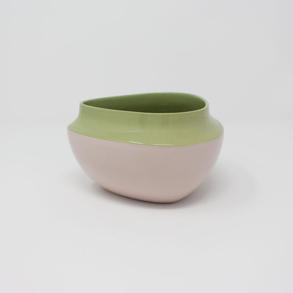 E. Lo Ceramic Top Curve Cereal Bowl Avocado Purple