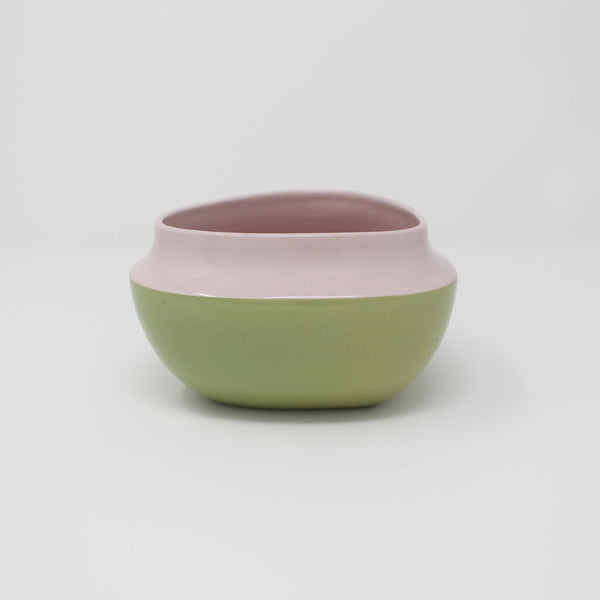 E. Lo Ceramic Top Curve Cereal Bowl Purple Avocado
