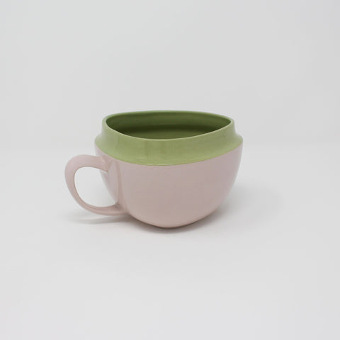 E. Lo Ceramic Art Top Curve Mug no.2 Avocado Purple