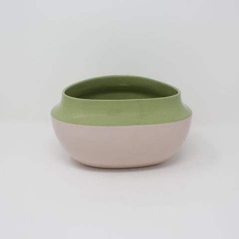 E. Lo Ceramic Top Curve Pasta Bowl Avocado Purple