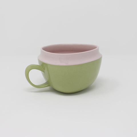 E. Lo Ceramic Art Top Curve Mug no.1 Purple Avocado