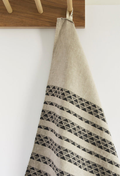 Charcoal Triangle Stone Tea Towel