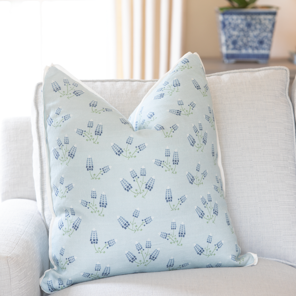 Texas Bluebonnets Square Pillow