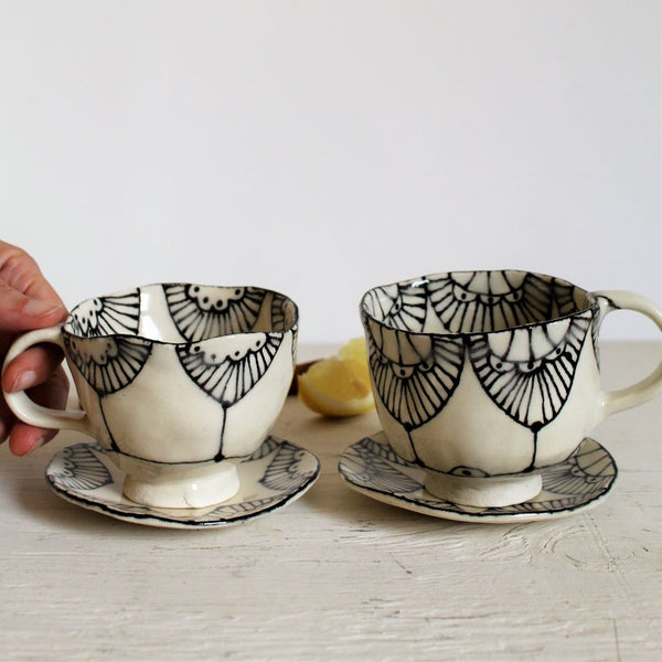 LACE Teacup and Saucer, Set of 2