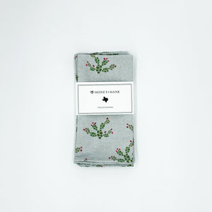 Texas Prickly Pear Cactus Napkins, Set of 4