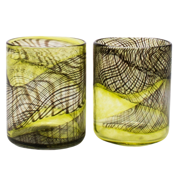 Dark Matter Yellow Tumblers, Set of 2