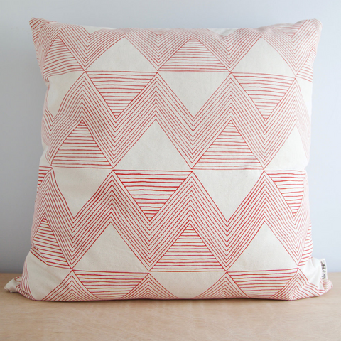 Red Zig Zag Pillow