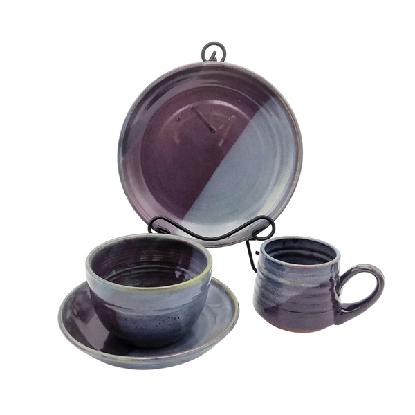 CPS Eggplant Place Setting, 4 Piece