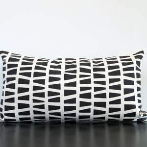 Midnight Block Wee Lumbar Pillow