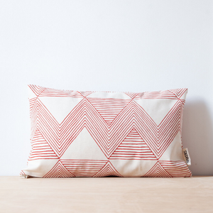 Red Zig Zag Lumbar Teeny Pillow