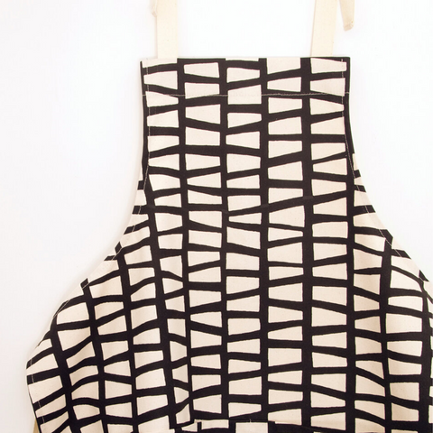 Midnight Negative Block Print Apron