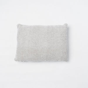 KD Weave Small Gray + White Lumbar Pillow Cover with Fringe