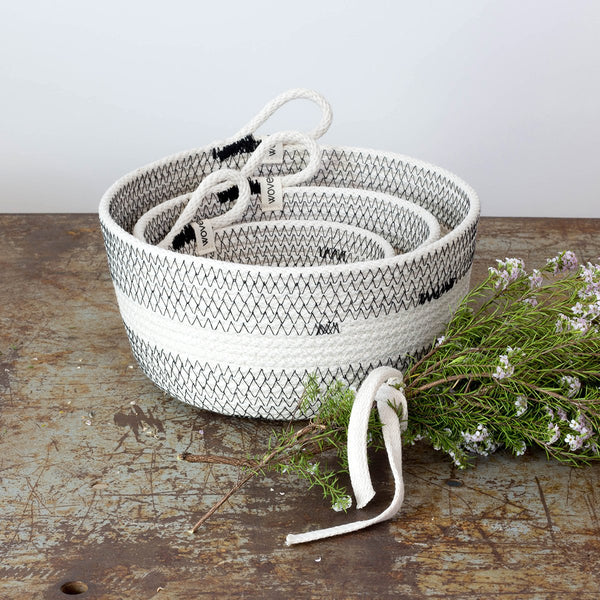 Monterey Woven Storage Basket, Set of 3