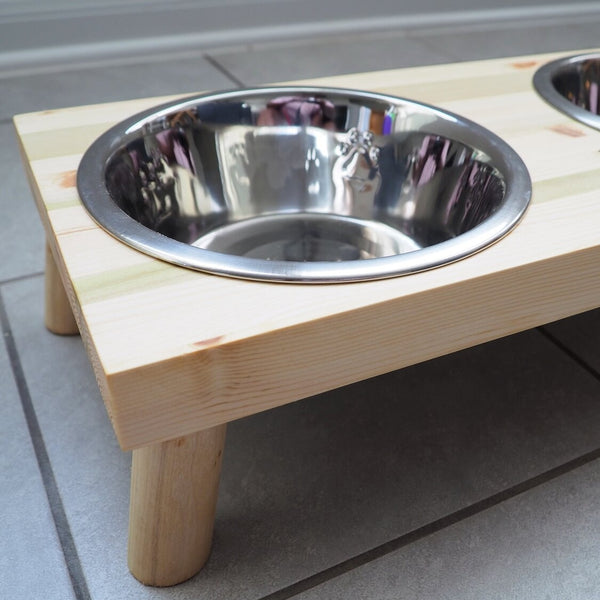 Raised Dog Bowl Stand, Bowls Included