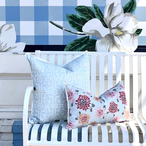 Fifty State Hydrangea Lumbar Pillow