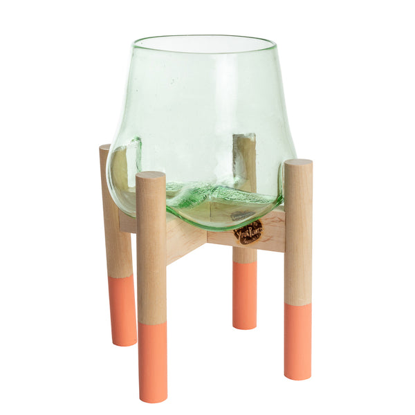 Terrarium and Coral Modern Stand, Large