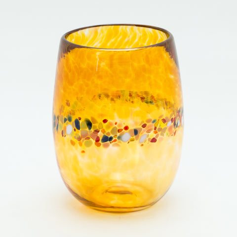 Gold Stemless Wine Glasses, Set of 2