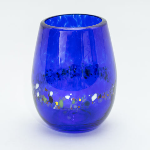 Cobalt Blue Stemless Wine Glasses, Set of 2
