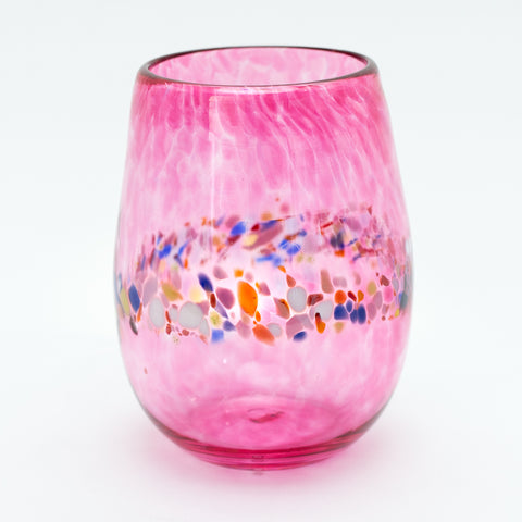 Pink Stemless Wine Glasses, Set of 2