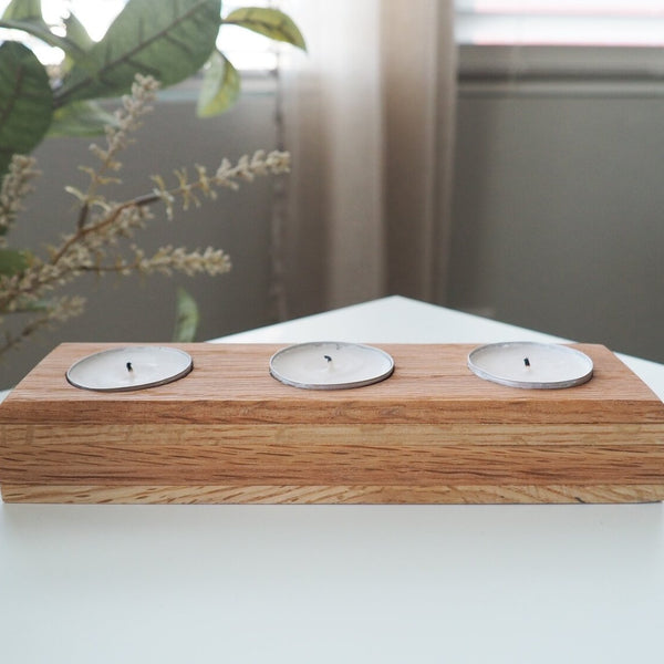 MJ Tealight Wooden Candle Holder