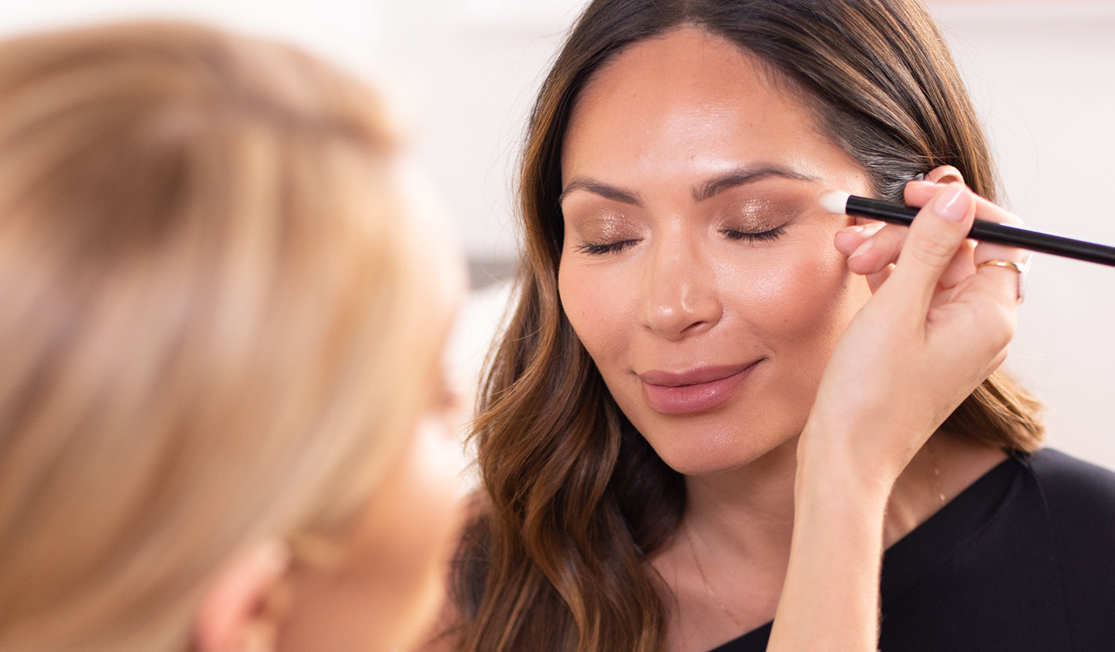 A daytime-glam makeup look with Marianna Hewitt