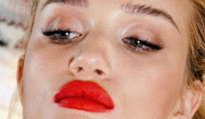 A fresh take on the classic red lip