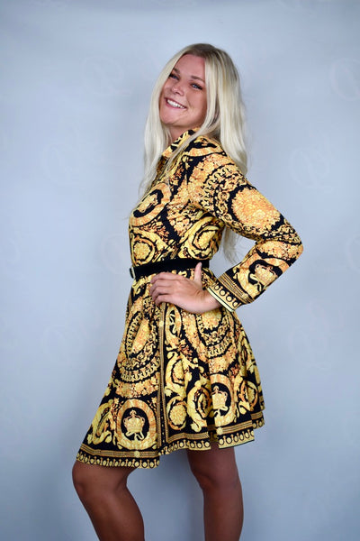 Donna's Paisley Gold Dress