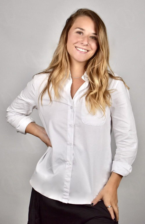 Harper's White Cotton Blouse