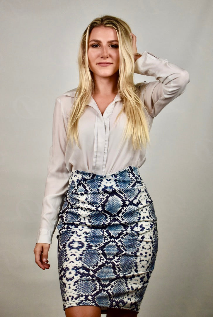 Sofia's Snake Skin Pencil Skirt