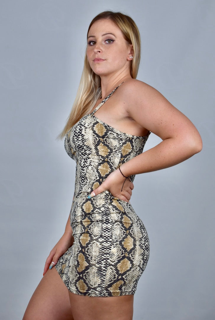 Sasha's Snake Skin Pencil Dress