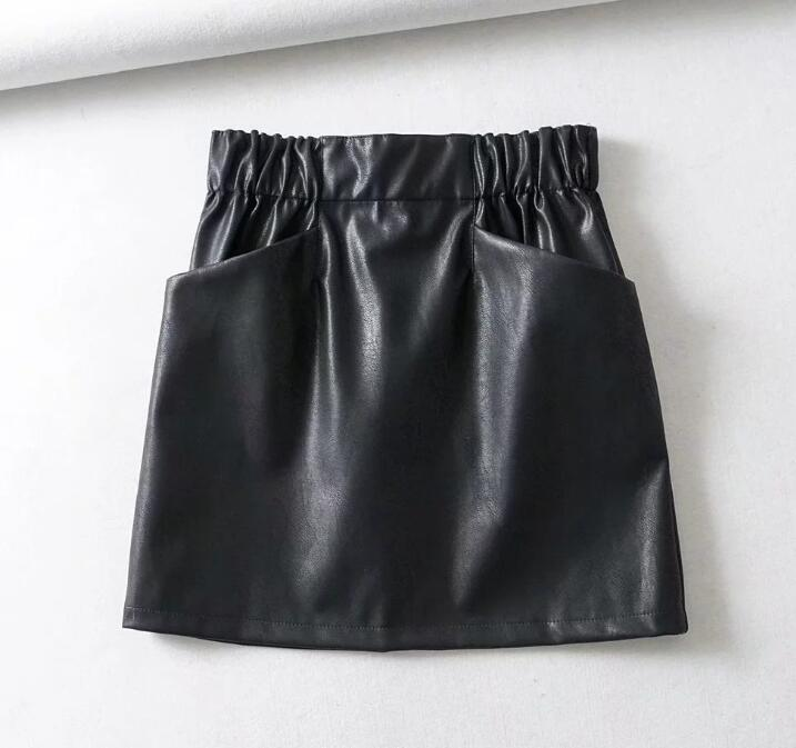 Nina's Leather Skirt