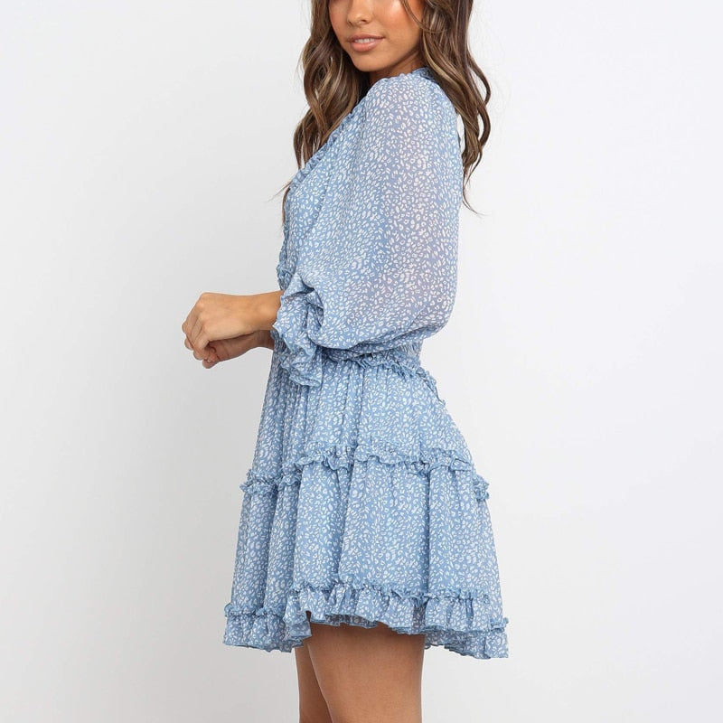 Marie's Ruffle Chiffon Dress
