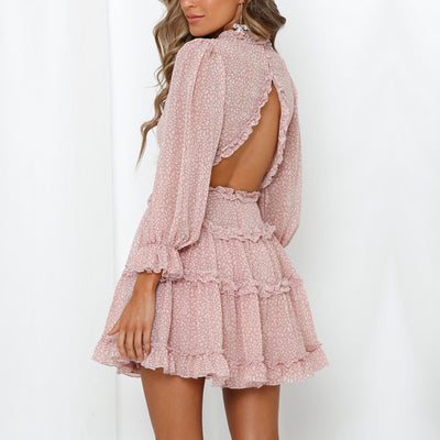 Charlotte's Ruffle Chiffon Dress