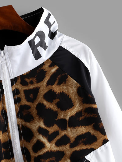 Lauren's Leopard Jacket Wind Breaker