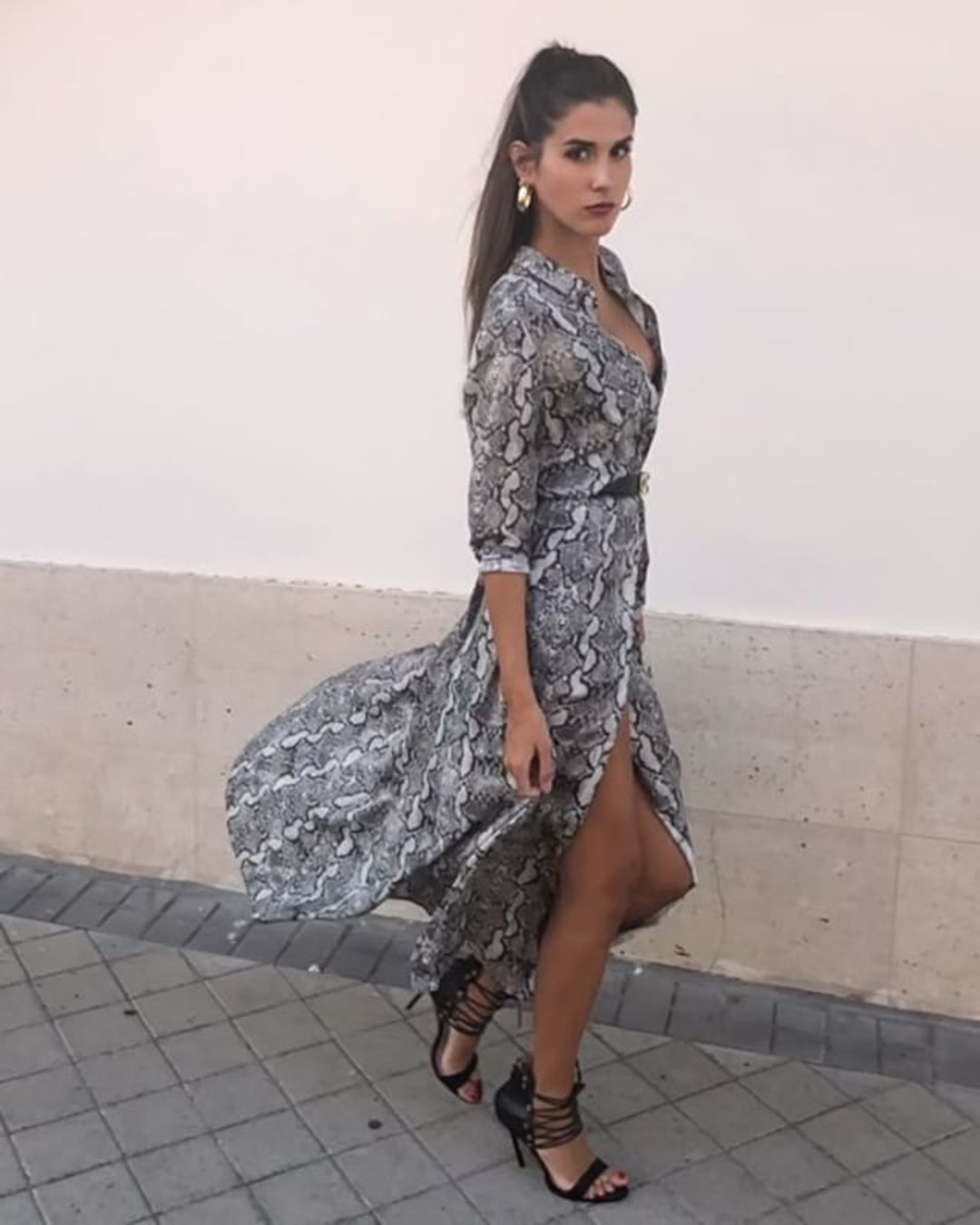 Veronica's Snakeskin Dress
