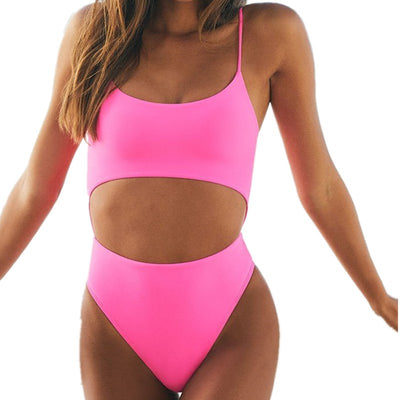Polly's One Piece Cut Out Swim Suit