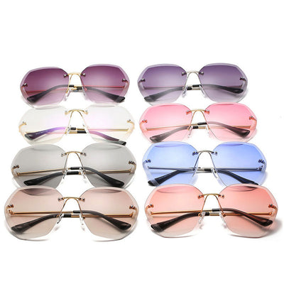 Harper's Oversized Rimless Sunnies