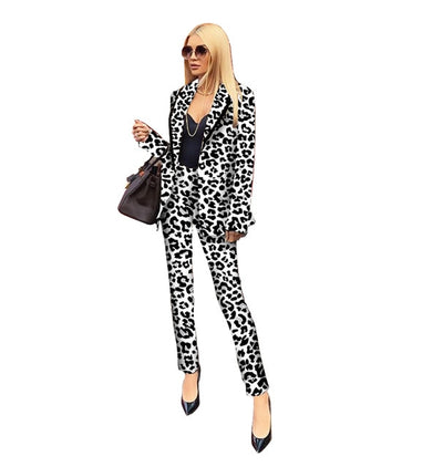Mila's Leopard Print Suits