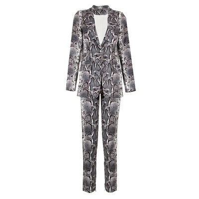Ava's Snake-Print Suit