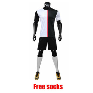 Jersey Soccer Survement Football Kit Mens Sports Suits Professional black yellow Jerseys Custom Design Tracksuit Uniform DIY- King_Lion_Shop