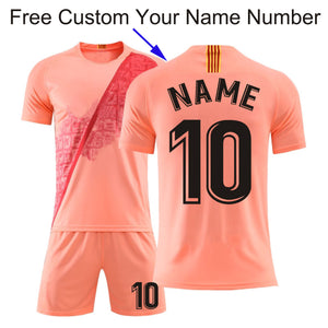 18/19 Men & Kid 3# 10# 22# Jersey Soccer (No Badge), Futbol Kits , Youth Uniforms Team Football, Short Sleeve Football Tracksuit- King_Lion_Shop