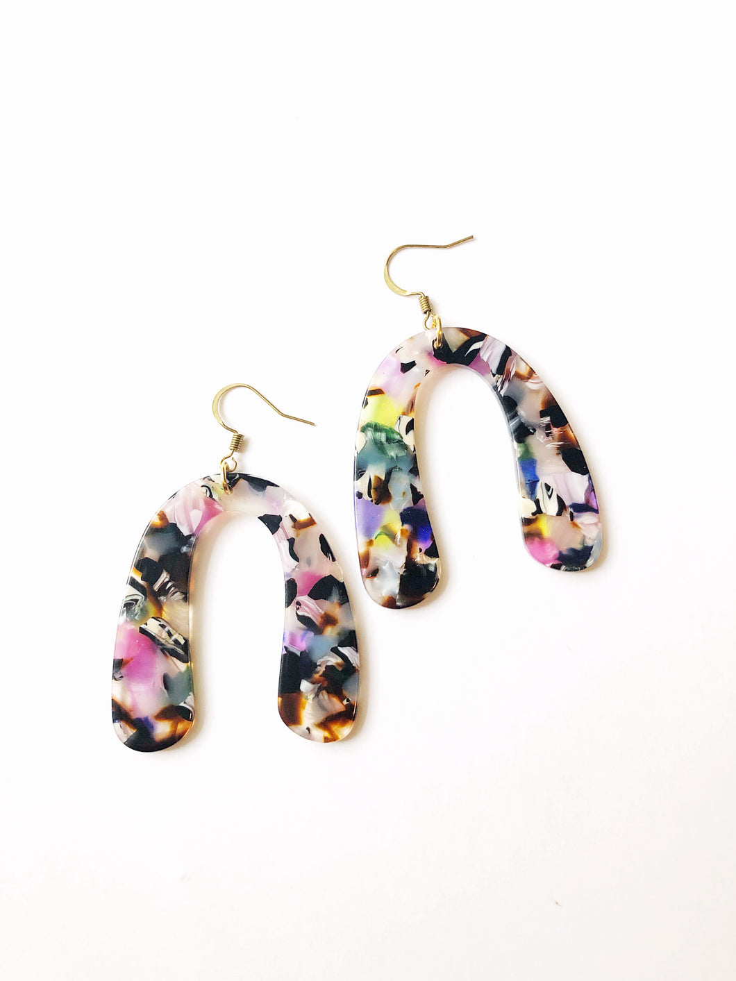 Multi Color Mod Earrings
