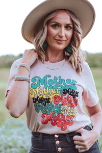 Retro Mother Tee (Pink)