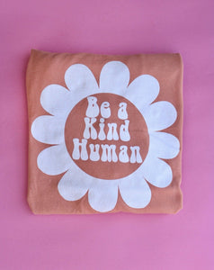 Be a Kind Human Long Sleeve (PEACHES & CREAM)