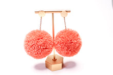 Load image into Gallery viewer, Large Statement Pom Pom Earrings: Blush