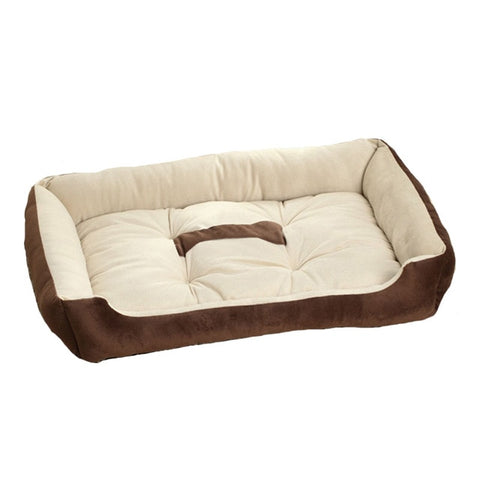 Soft Fleece Dog Bed Cushion Bone Print