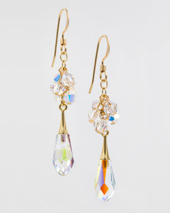 Picture of earrings with Swarovski crystal AB
