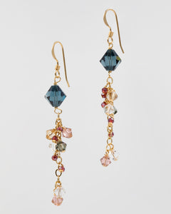 Picture of earrings with Swarovski crystal in pastel colors
