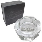 RAW LEAD FREE CRYSTAL GLASS ASHTRAY