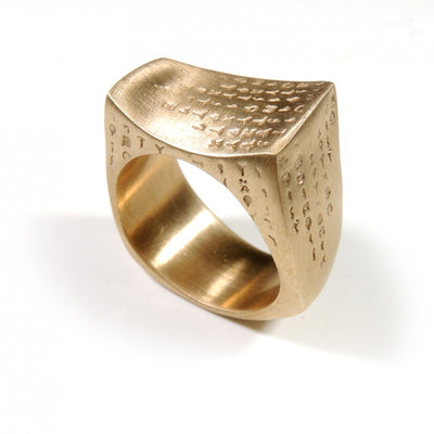 Cosmo Bronze ring Made in Italy